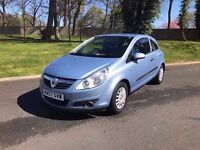 2007/57 VAUXHALL CORSA LIFE 1.0 WITH ONLY 50,000 MILES, CHEAP INSURANCE MODEL