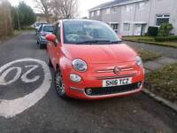 Fiat 500 lounge glam coral