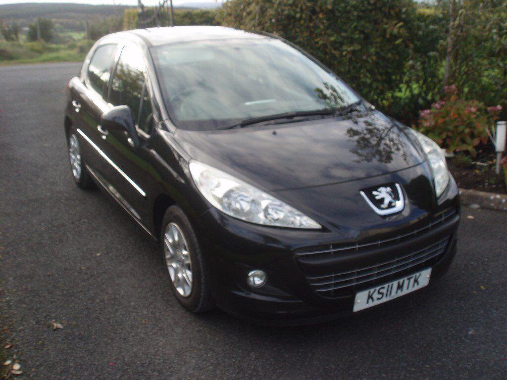 Facelift 2011 Peugeot 207 active 1.4 HDI black 5 door