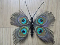 Feather Butterfly Fascinators With Crystals Hair Clip (Only 1 Ever Made Of Each Design)