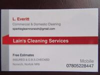 Lain's Cleaning Services, For All Your Cleaning Requirements.