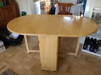 Folding Dining Table and 4 folding Chairs - Butterfly Kitchen Table