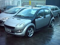 smart 4plus 4 pulse 1.1 petrol ,05 reg sporty looking black and silver £1495