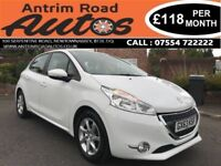 2013 PEUGEOT 208 ACTIVE 1.0 PETROL ** FULL DEALER SERVICE HISTORY ** LOW RATE FINANCE AVAILABLE
