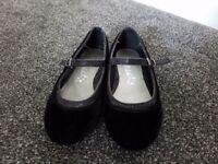 Next girls black shoes