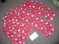 Hello Kitty cotton pyjamas with opened front for girl 5-6 years.