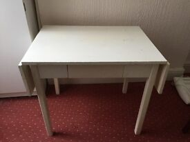 Wooden white table