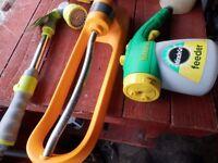 Sprinkler, feeder and hanging basket watering lance.