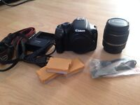 Canon 550d with 18-55mm 3.5-5.6 canon lens