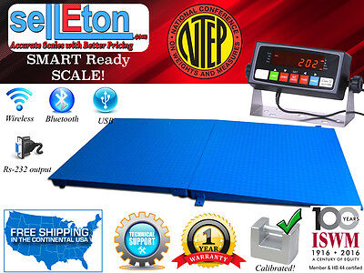 Ntep 5 X 5 60 X 60 Floor Scale With Ramp 10000 Lbs X 2 Lb Pallet Size