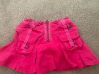 Girls designer Pink Skirt Age 5-6 washed once