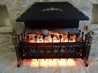 HAND-CRAFTED COTTAGE STYLE ELECTRIC FIRE - AS NEW
