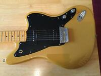 Vintage fender modified Squier Jazzmaster guitar in butterscotch blonde. Has a maple neck, vgc