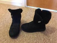 Ladies genuine bling bailey button ugg boots