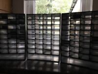 Small parts storage boxes. Plastic. 33 x 3