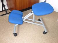 Trexus Kneeling office chair - steel framed on Castors Gas Lift seat - Now only £30 for quick sale