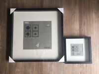 Brand new Ikea square Ribba frame black - one 50x50cm and one 23x23cm