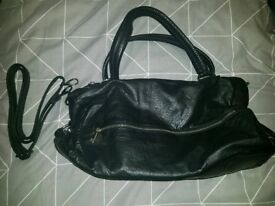Black leather bag for sale!!
