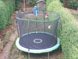 Trampoline and saftey net