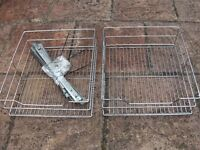 2 Chrome basket drawers for 450mm Kitchen cabinets