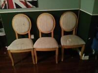 Four matching dining chairs