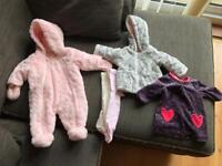 Bundle of 0-3 month baby girl clothes