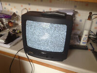 Samsung 35cm television with remote control