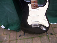 Squier Strat Affinity electric guitar full size.