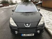 2007 peugeot 307 hdi diesel 7 seater estate car, £30 tax, long mot.