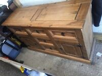 Rustic Mexican Pine Chest of Drawers