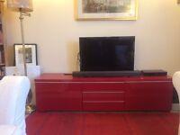 IKEA Red TV Bench - BESTA BURS