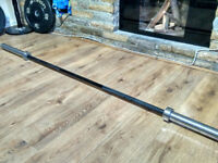 Wolverson Hybrid Olympic Barbell + Bumper Weight Plate + Squat Stand Rack