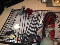 Full golf set with accessories practically new