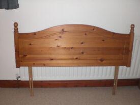 Pine headboard double £10