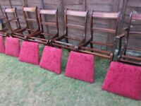 6 dining chairs,armchairs detachable seats, Vintage chairs ideal upcycle project DELIVERY IN LE3