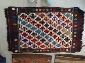 Turkish Carpet and Tunisian wall hanging