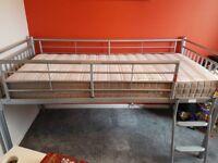 ***SOLD***Grey Metal Mid-Sleeper Bed