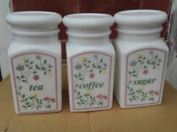 Tea, Coffee and Sugar Storage Jars
