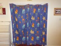 Jungle animal design curtains (pair)