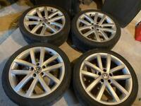 "Vw 18"" Vancouver's alloy wheels gtd gti golf mk6 caddy Charleston's"