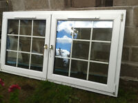 UPVC TILT AND TURN WINDOW, WITH ASTRIGALS, GOLD HANDLES