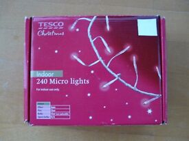 240 Indoor Micro Christmas Lights - Tesco