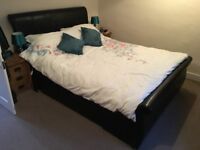 King Size (5ft) Bed Base - Faux Leather