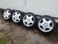 "Mercedes AMG genuine 18"" wheels 8,5j and 9,5j"