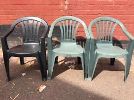 Garden chairs 5 Pounds Each