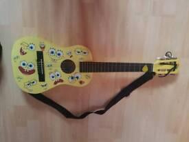 Child's Acoustic Spongebob Guitar!