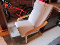 Ikea Poang Summer House Chair and Matching Foot Stool.