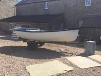 Loch fishing rowing boat 10.5ft