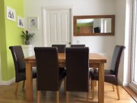 Extending Dining Table and Dining Chairs