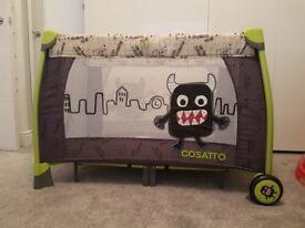 Cosatto moon unit travel cot play pen little monster